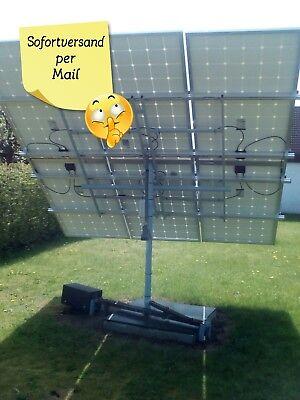 Heimwerker Sofort Per Mail-bauanleitung Nachführanlage Sonnennachlauf Solaranlage Tracker