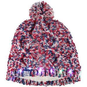 314df177491deb New York Giants Chunky Knit Light Up Logo Beanie Winter Hat Toque ...