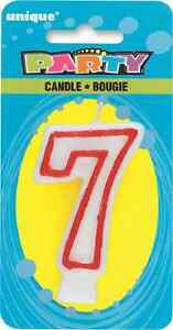 Image Is Loading Number 7 Birthday Cake Candle 7th Candles