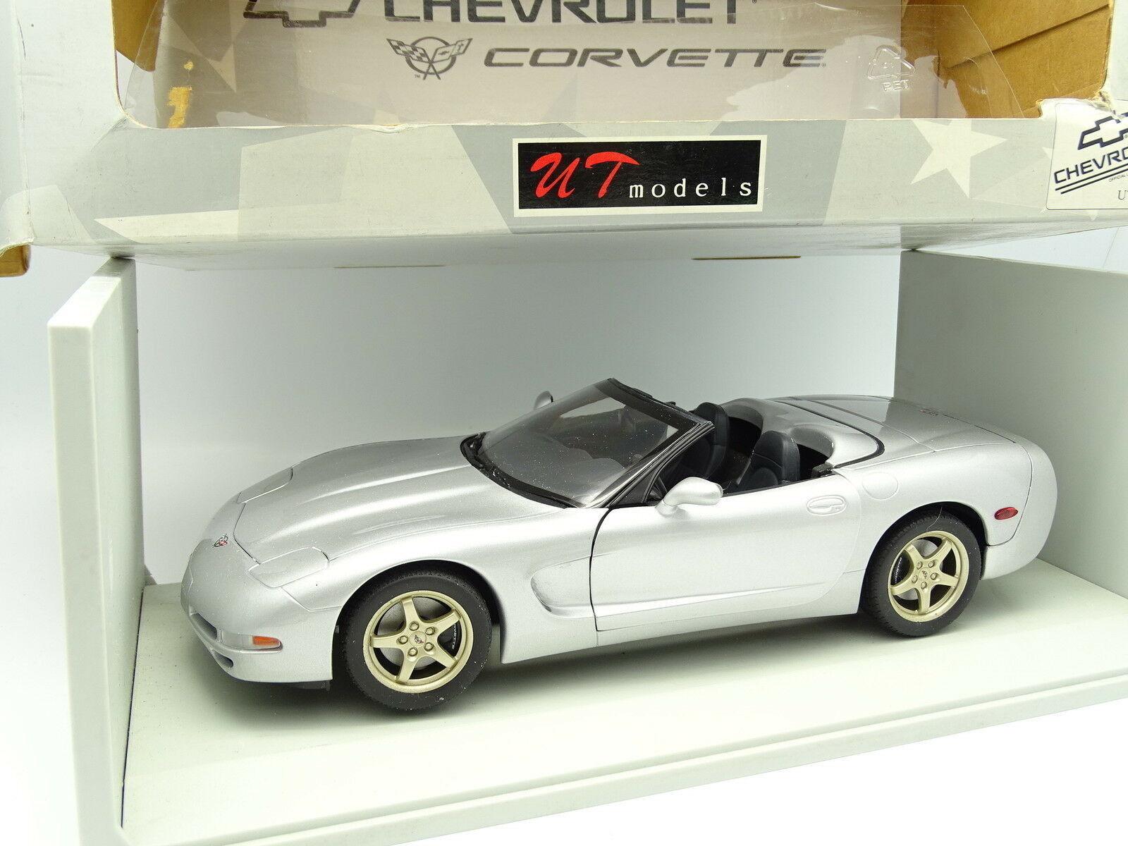 Ut models 1 18 - Chevy Corvette c5 1998 cabriolet silver