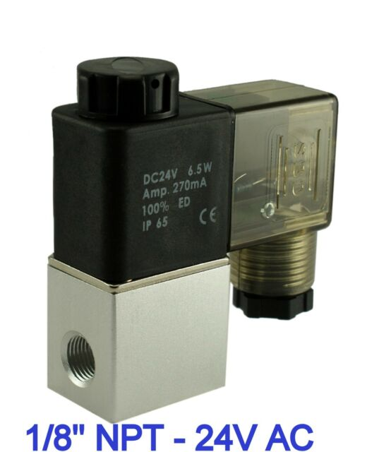 1//8 Inch Direct Acting Electric Air Water Solenoid Valve Normally Closed 110V AC