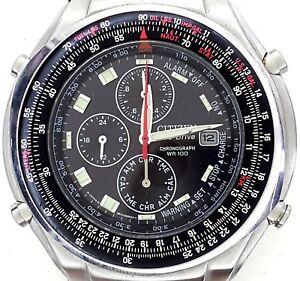 rivenditore di vendita 61065 d9b4a Details about OROLOGIO CRONOGRAFO, CITIZEN ECO DRIVE, 0870-H28615 TA,  BRACCIALE ACCIAIO, 100 M