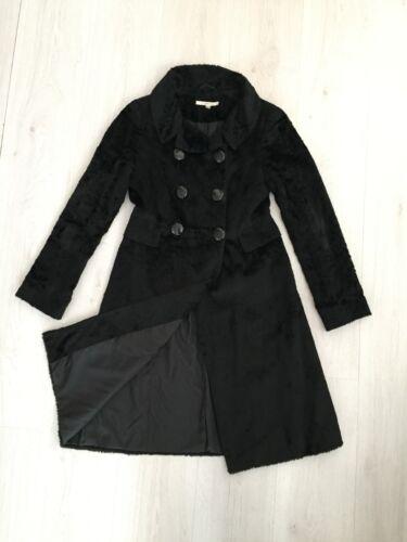 d'hiver luxueuses fourrure et avec Manteau K plumes velours L fausse Black en 8 Bennett Sz B7IWqHx