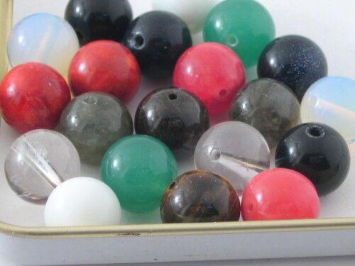 10 coppie di pietre miste cabochon da 12 mm