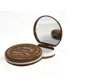 Mini-Pocket-Chocolate-Cookie-Compact-Mirror-Comb-Make-Up-Mirro-PPCA