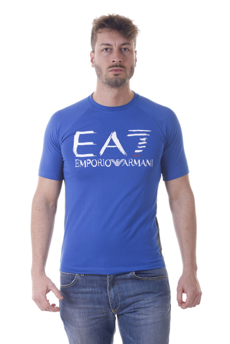 Emporio Armani EA7 T-Shirt Sweatshirt Sz. S Man Blaus 3YPT59PJ73Z-1598 PUT OFFER