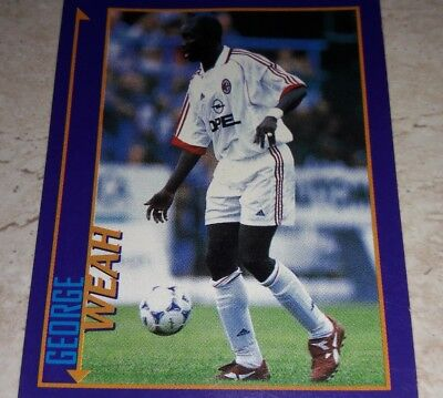 MILAN WEAH MERLIN KICK OFF 98-Figurina n.100 NEW