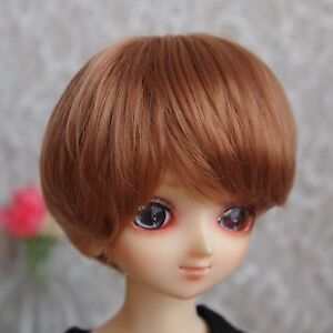 7-8-034-Gold-Brown-Synthetic-Mohair-Wig-for-1-4-MSD-Doll-BJD-Girl-Boy-Dollfie