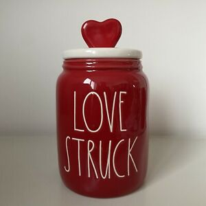 New Rae Dunn Red Baby Love Struck Heart Topper Canister - Valentine's Day 2021
