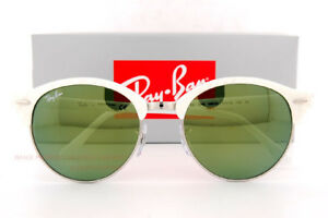 72f32907fca16 Brand New Ray-Ban Sunglasses RB 4246 988 2X White Mirrored Green ...