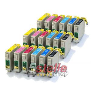 KIT 18 CARTUCCE COMPATIBILI PER EPSON STYLUS PHOTO 1400 1500W P50 PX 650 710W