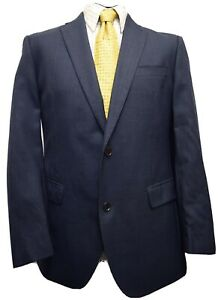 Ms3372 Austin Reed Men S Navy Pure New Wool Suit Blazer Jacket Size 42r Uk Ebay