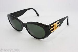 Maga Design Vintage Sunglasses Made in Italy 9527A 54mm NOS Gold Black Rare