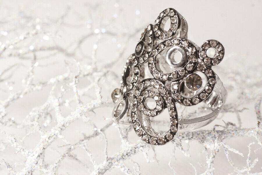 Coctail Ring with Swarovski elements- Limited Edition Design
