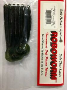 """Bulk 6/"""" Curly Tail Worms Watermelon w//Green /& Purple Flake 25 Count New Other"""