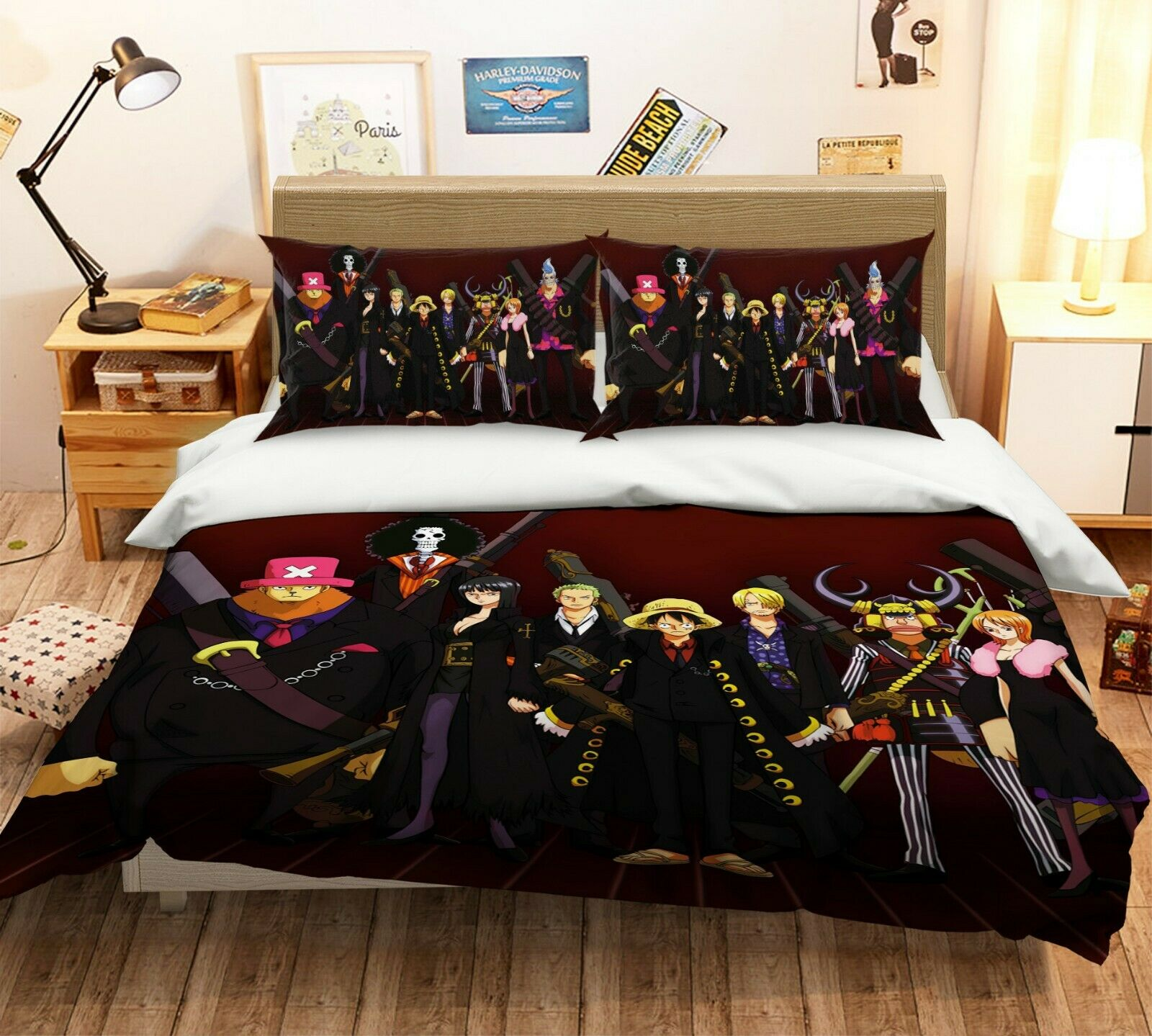 3D One Piece G44 Japan Anime bed Pillowcases Duvet Cover Quilt Cover Acmy