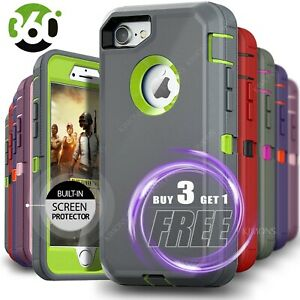 iPhone-12-Pro-Max-6-7-8-11-Plus-XS-XR-X-Shockproof-Case-with-Screen-Protector