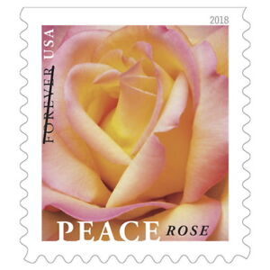 USPS-New-Peace-Rose-Booklet-of-20-stamps