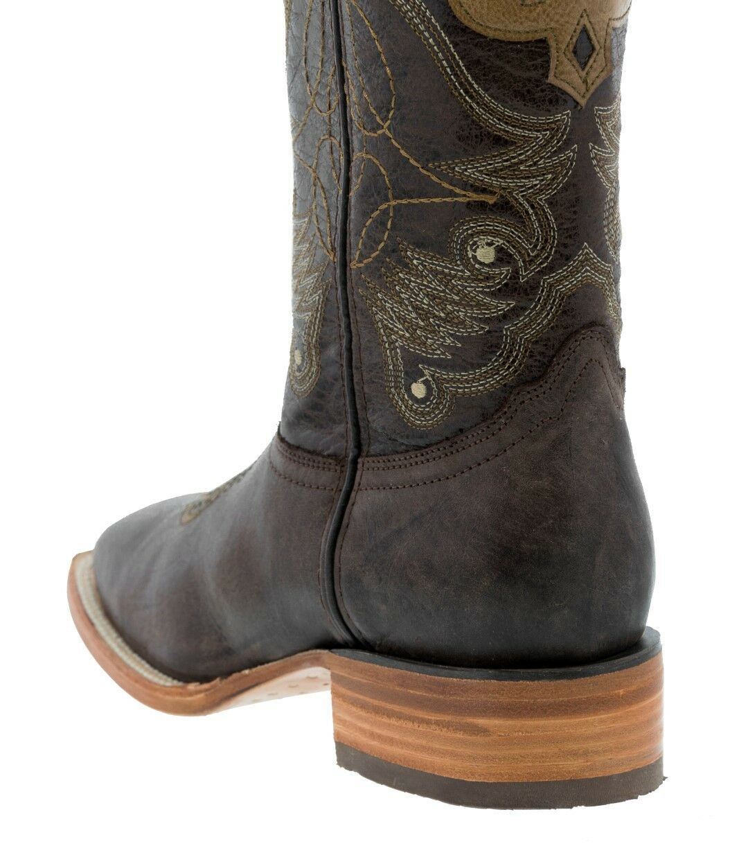 Mens Chocolate Design Honey Overlay Leather Cowboy Stiefel Western Western Western Wear Square Toe 10a37e