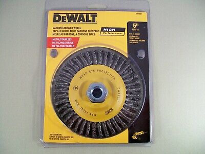 DEWALT DW49202 6-Inch by 5//8-Inch-11 HP .020 Carbon Stringer Wire Wheel