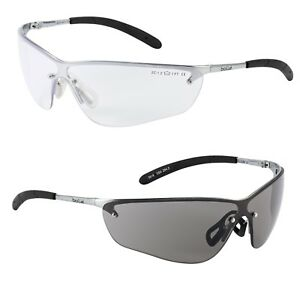 Bolle Silium SILPSF Smoke Lens Safety Spectacles Glasses Anti-Scratch Anti-Fog