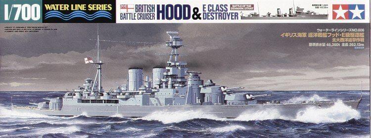 Tamiya 1 700 HMS Hood & E Class Destroyer