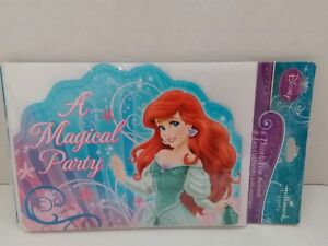 Details About Disney Little Mermaid Combo Birthday Party Invitations Thank You Notes 8 Each