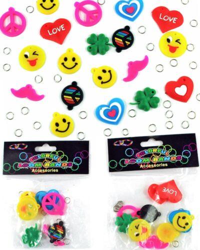 Loom Bands XL Paket 20 Charms Anhänger Zubehör Acessoires DIY Rainbow Nur 2,99 €