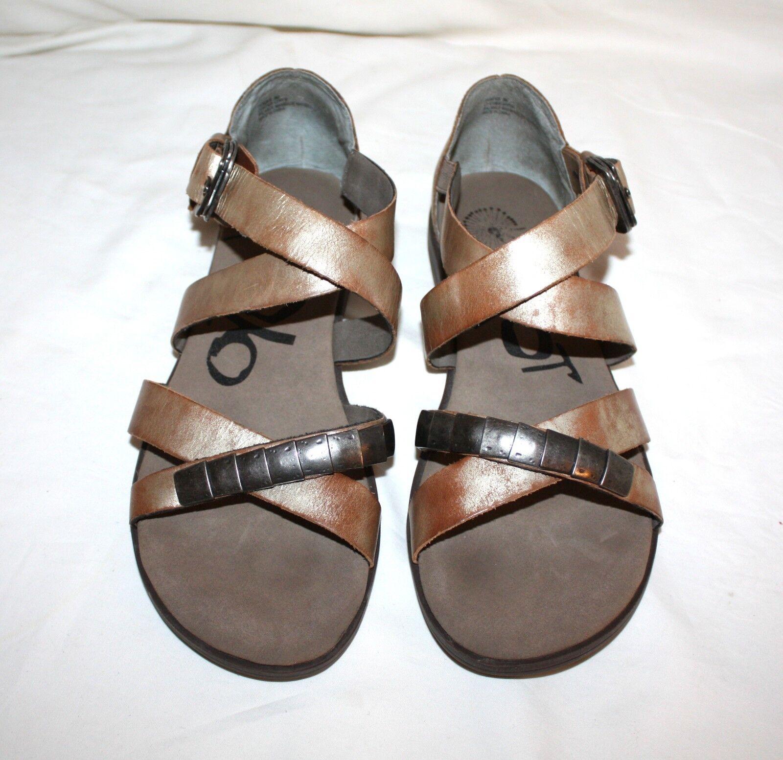 OTBT Pender Distressed Leather Sandals Size 8 M
