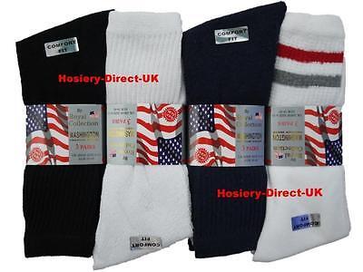 20 Mens Royal Collection Cotton Rich Washington Sport Socks / Optional / Uk 6-11 Geeignet FüR MäNner, Frauen Und Kinder