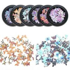 3D Holographic Laser Glitter Flakes Butterfly Nail Sequins Nail Art Decoration