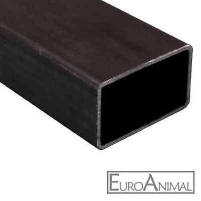 Rechteckrohr 30x15 bis 180x80, 500mm - 3x2000mm Stahl Vierkant Rohr Hohlprofil
