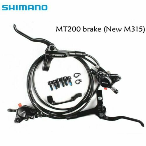 Shimano BR-BL-MT200 MTB Hydraulic Disc Brakes Set Pre-Bleed With G3 160mm Rotors