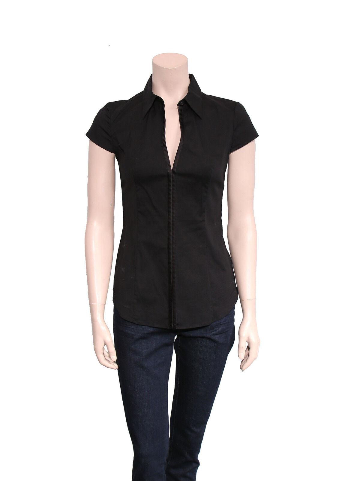 PRADA schwarz blouse Größe 38