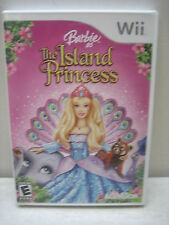 NINTENDO WII BARBIE AS THE ISLAND PRINCESS GAME COMPLETE & TESTED