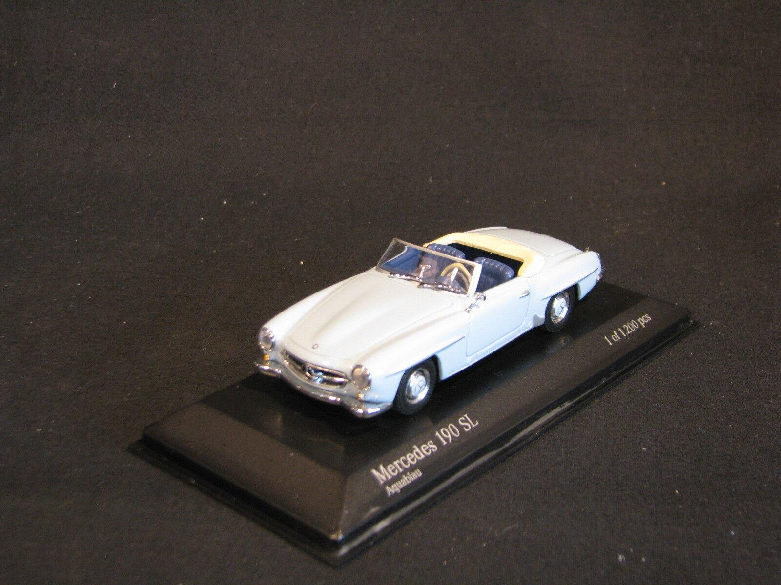 Minichamps Mercedes-Benz 190 SL 1955-1962 1 43 Aqua bluee (JS)
