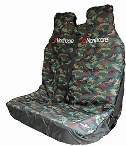 NORTHCORE-WATERPROOF-DOUBLE-CAR-VAN-SEAT-COVER-CAMO