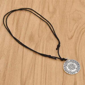 1x-Viking-Warrior-Pendant-Necklace-Lucky-Chain-Adjustable-Jewelry-For-Men-Unisex