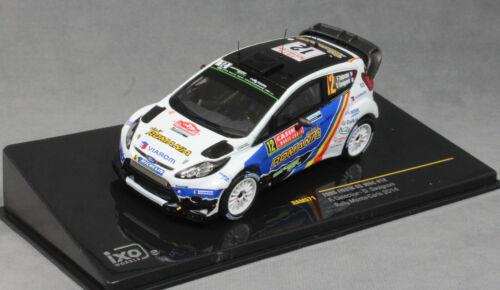 IXO Ford Fiesta RS WRC Monte Carlo Rally 2014 Francois Delecour RAM571 1//43 Nuevo