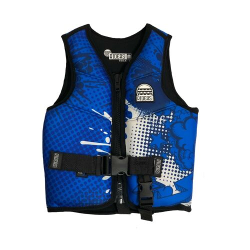 Riders Inc Rock It Boys Kids Neoprene Ski Vest Life Jacket XS-L BLUE