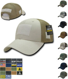 5049f128908 Details about RAPDOM Low Crown Mesh Constructed Military Tactical Hats Caps  With Front Patch