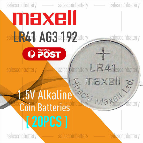 20x MAXELL AG3 1.5V Cell Coin Alkaline Button Battery Batteries Stock in Mel
