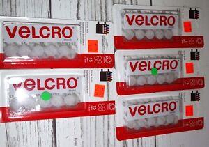 5 New Packs Of 15 White Velcro Brand Sticky Back Fasteners 5 8 Diameter Ebay