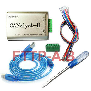 CAN Analyzer CANOpen J1939 Device Net USBCAN-1//2 USB to CAN Adapter for ZLG Red