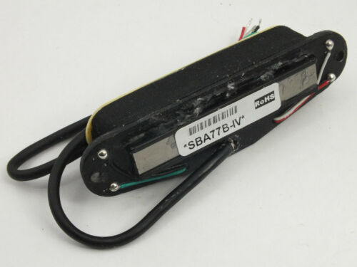 Artec SBA77B Black HOT RAIL SINGLE COIL HUMBUCKER PICKUP for Stratocaster 3 cols