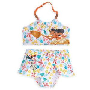 af85e0e17f2aa Disney Store Moana Girl two-piece Swimsuit Bathing suit Sz  5   6 ...