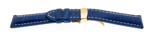 Uhrenarmband alligator prägung echt Leder Diverse Farben und Stegbreiten