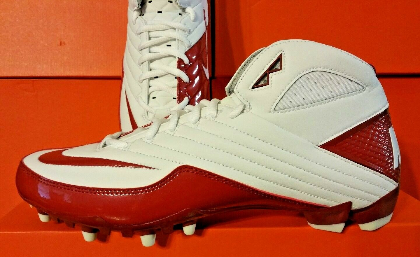 NEW RED/WHITE Nike Super Speed TD 3/4 Football Cleats RED/WHITE NEW 396254 191 SOCCER Retail 743e8c