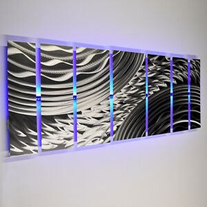 Details about Color Changing LED Modern Abstract Metal Wall Art Sculpture  Painting Decor RGB