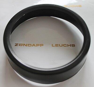 Zündapp Tacho Drehzahlmesser Ring 80mm Schwarz für Grüne Amarturen NEU